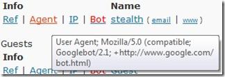 Googlebot Agent χρήστη