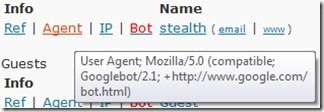 Googlebot的用戶代理