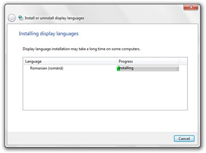 Installare Windows 7 rumeno Language Pack