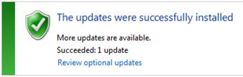 Update Installed