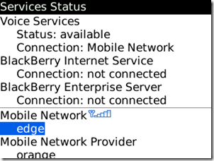 BlackBerry Internet Service