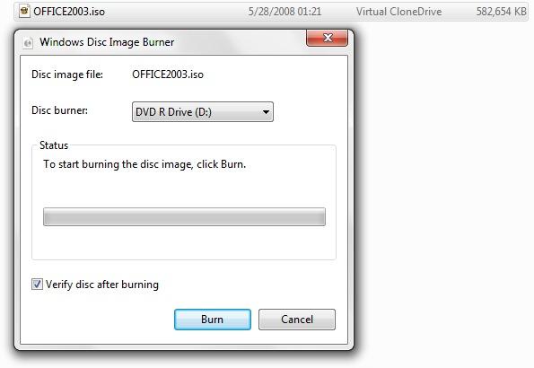 Burn .ISO image files in Windows 7 (Windows Disc Image ...