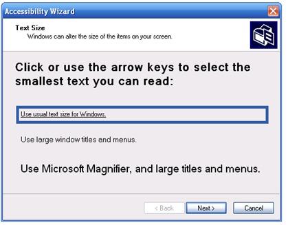 Promjena veličine teksta