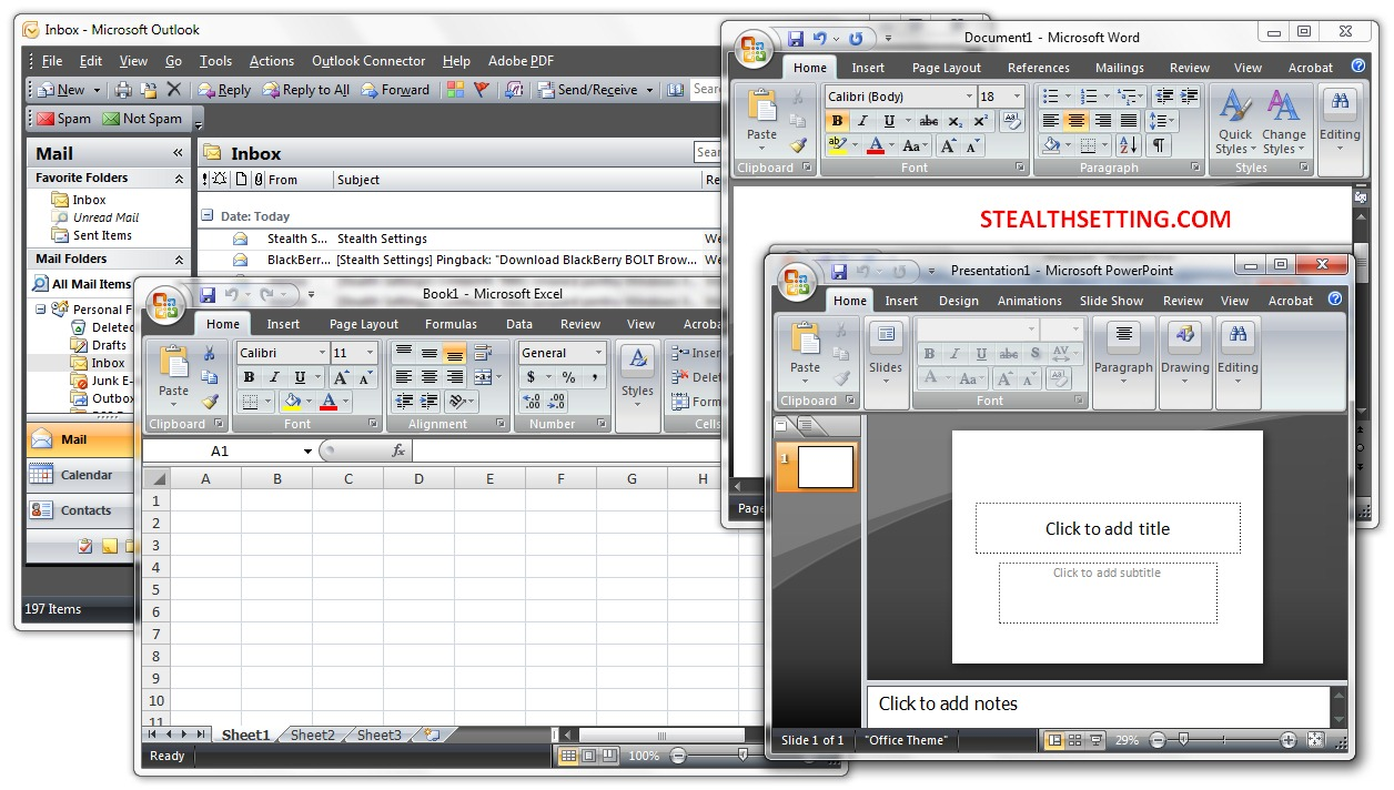 Change Skins (Color Scheme) in Microsoft Office 2007 - STEALTH SETTINGS