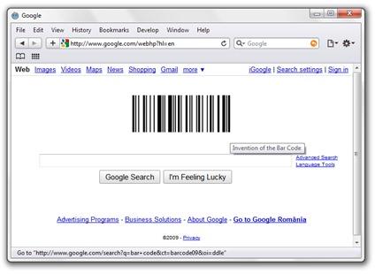 Google Doodle Bar Code
