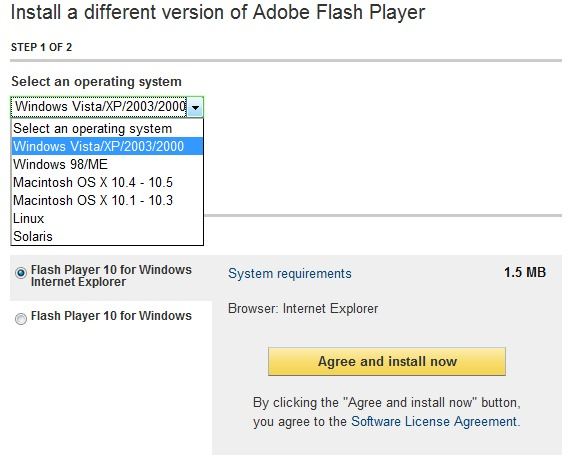 Eroare / Crash IE8 [Fix Adobe Flash Player 10] - STEALTH SETTINGS