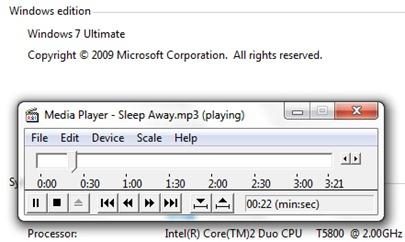 WMP dans Windows vieille 7