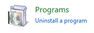 Контролен панел / Programs