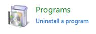 Configuratiescherm / Programma's
