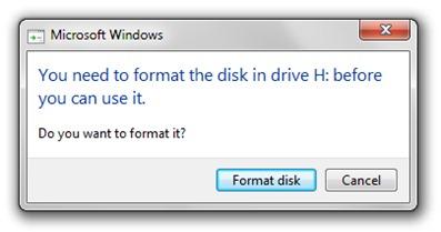 7 Windows format externe hdd