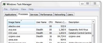 CCC.exe в Task Manager
