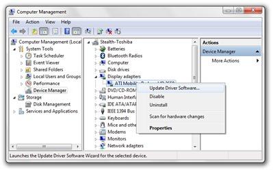 Administrere ATI Radeon Display Driver