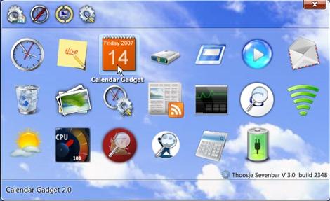 Windows 8/10 desktop gadgets.