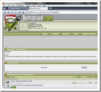 דצמבר demonoid.com 2009