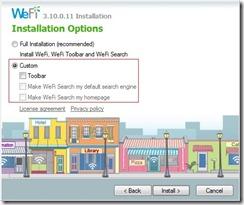 WeFi-custom-install