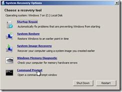 系统恢复CMD