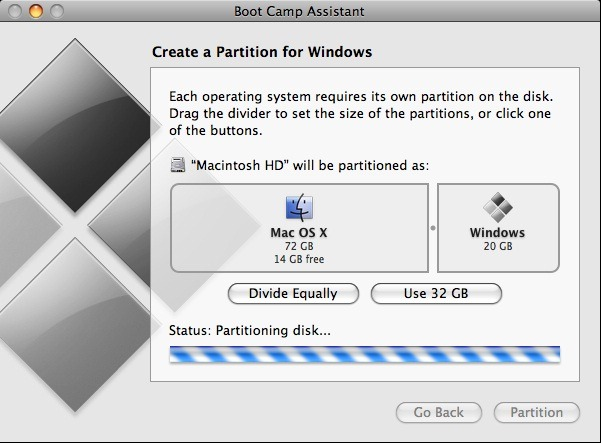 Install Windows 7 on your Apple Mac using Boot Camp