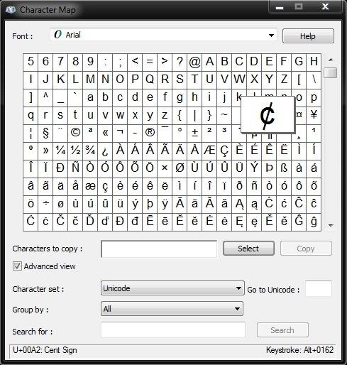 Cr er des raccourcis sur le clavier pour n 39 importe quel caract re sp cial symbole dans windows - Table des caracteres windows ...