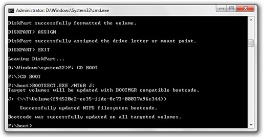 3 create bootable USB stick