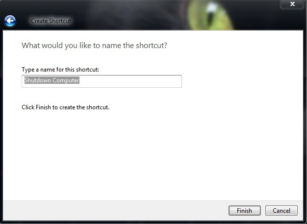 shutdown otsetee