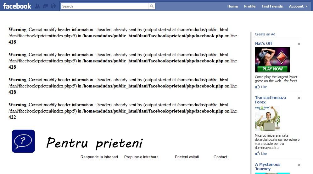 페이스북 errors