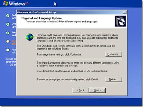 """選擇""""區域和語言選項"""""""