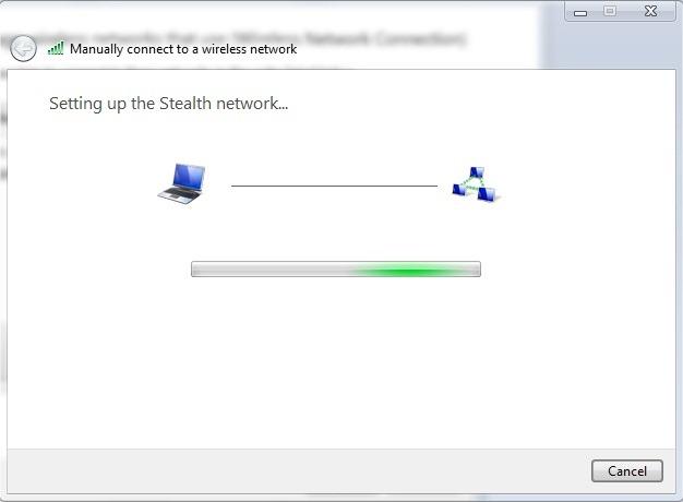 Как мы можем создать беспроводное подключение к Интернету между двумя компьютерами в ОС Windows 7 Ad-Hoc Сеть - скрытого режима