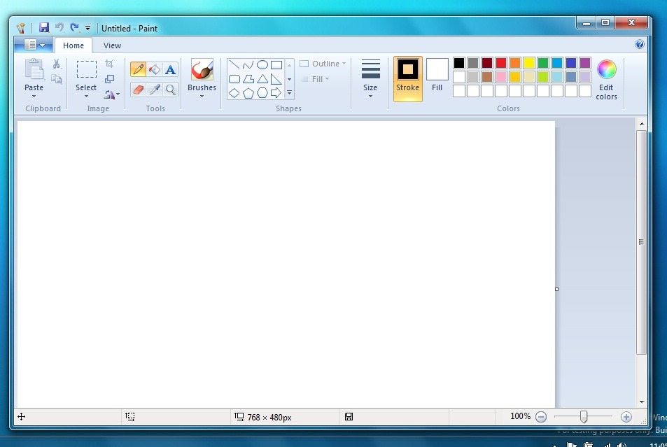 How to flip an image using paint in windows 8.