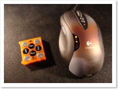 Logitech gaming mouse G5 with weights.