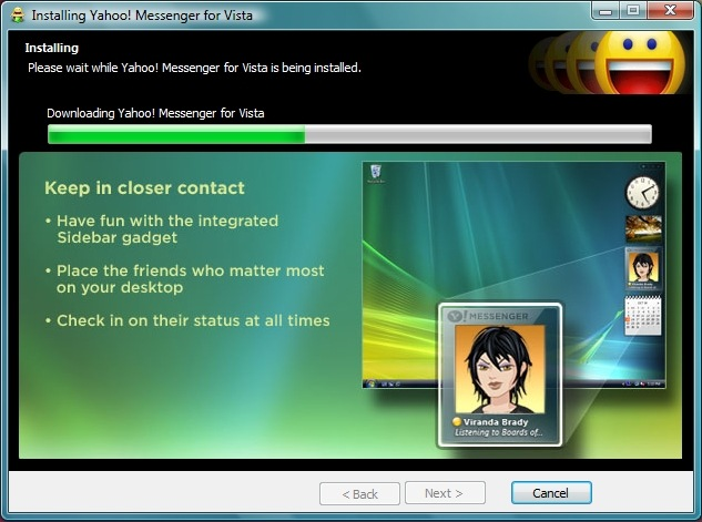 In vista and windows 7, the control panel - system properties dialog window will appear instead as shown below
