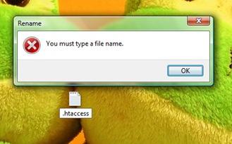 .htaccess Windows Vista