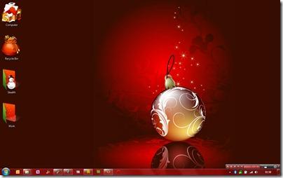 Červené vánoční