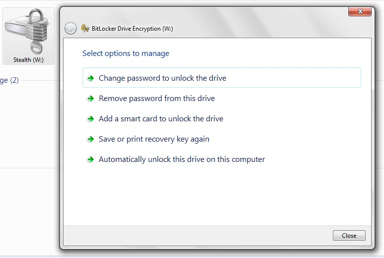 How to reactivate your password to a BitLocker-encrypted