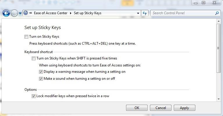 turn-off-stiky raktai