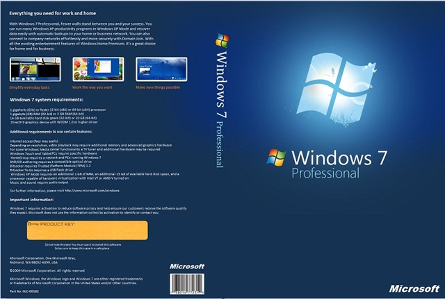 Windows 7 Ultimate / Professional / Home Premium x86 และ x64 (ISO