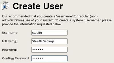 Create User CentOS