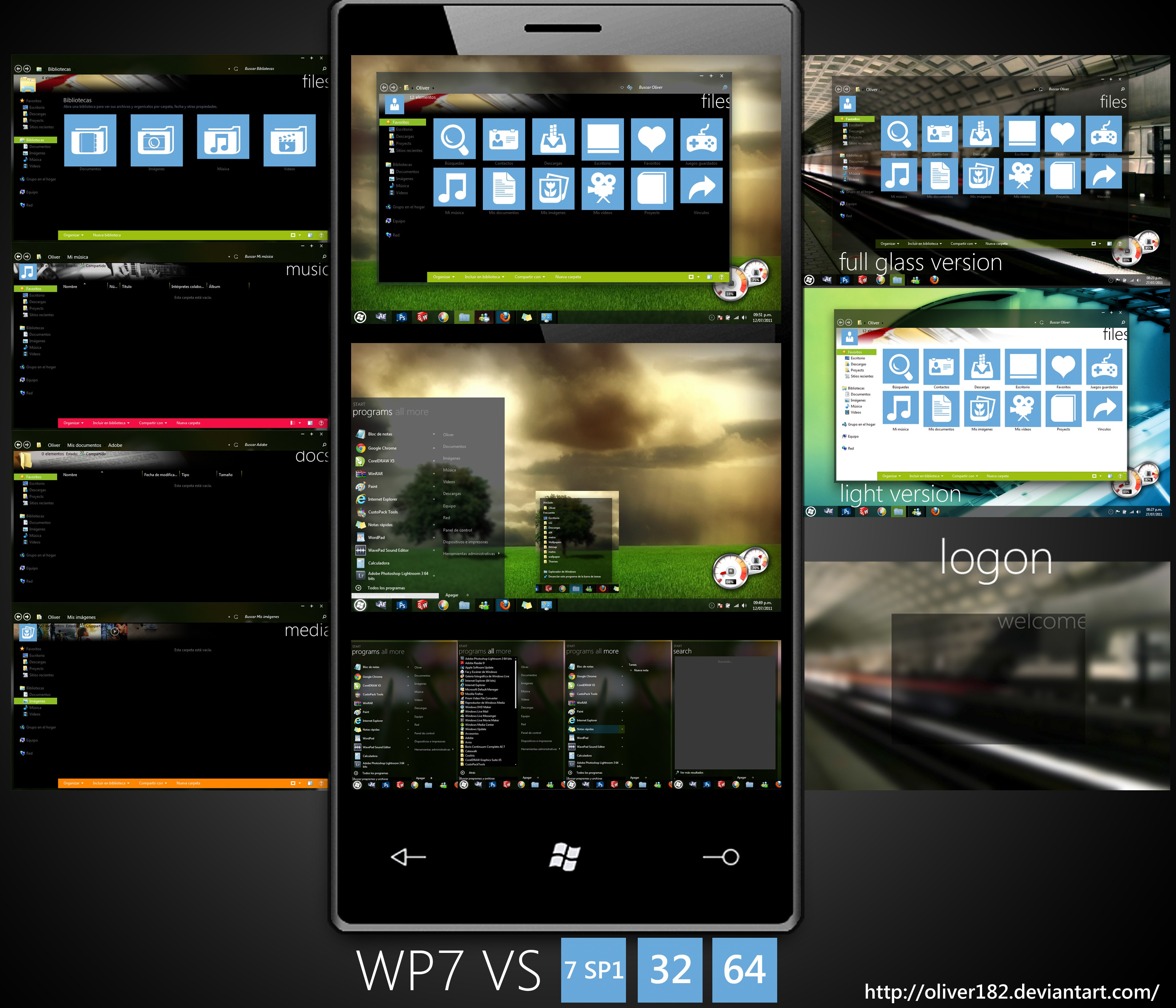 Baixar Windows Phone Mango Amp Xbox 7 Inspirado Tema Para
