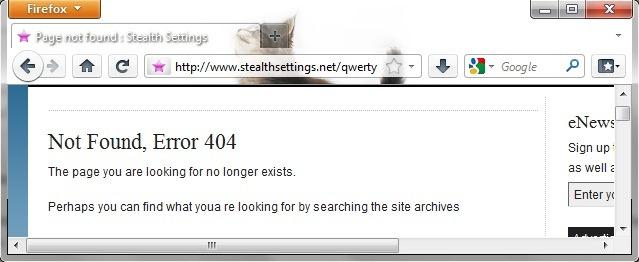 comment réparer 404 not found