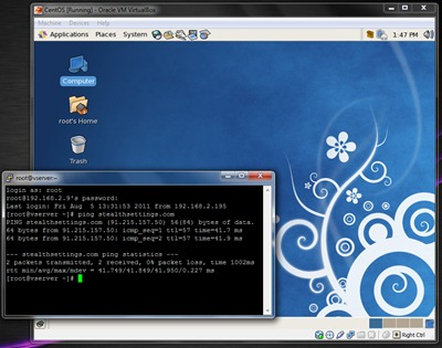 Putty VirtualBox CentOS