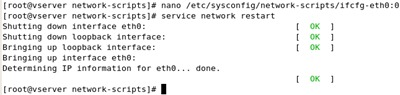 centos network restart