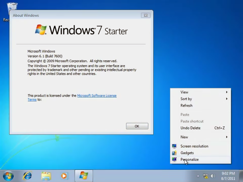 temi windows 7 starter