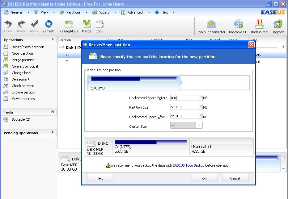 Programma wijder het verminderen verwijderen en partitie maken de harde schijf hdd download - Externe verwijderbare partitie ...