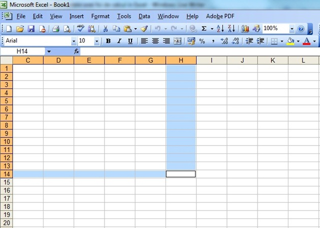 Excel Lines and Columns