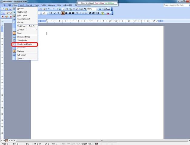 So bearbeiten Sie ein Vorlagendokument mit Kopf- und Fußzeile in ...