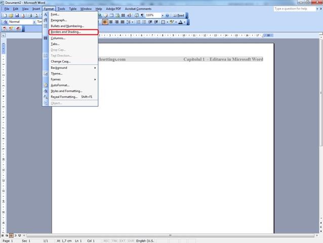 Jak Edytowa Nag Wek I Stopk Dokumentu Szablon W Z Microsoft Word 2003 Ustawienia Stealth