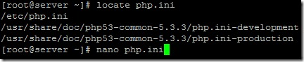 Finn og rediger php.ini fil