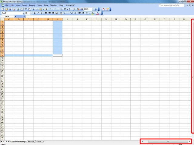 Orizontal and Vertical Bar Excel