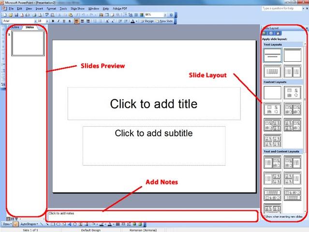 PowerPoint Slide Layout