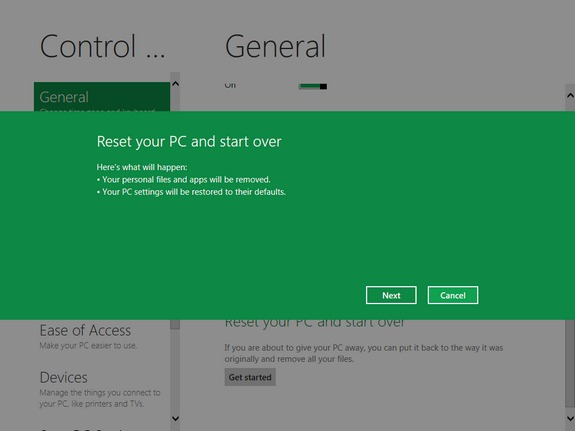 how to reset win 10 colour settings
