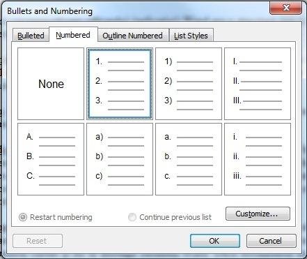 Nummering word aanpassen